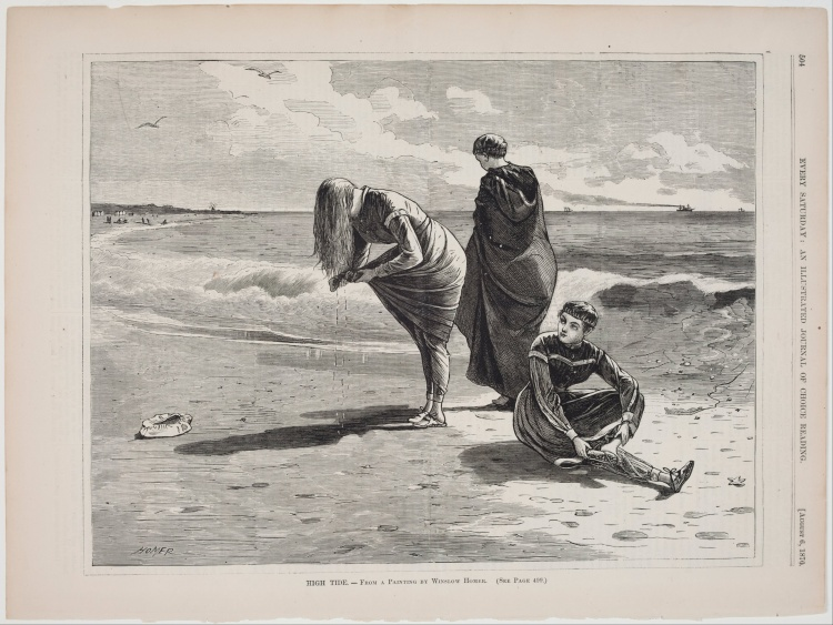 Winslow_Homer_-_High_Tide,_published_in_Every_Saturday,_August_6,_1870_-_Google_Art_Project